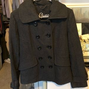 GUESS Charcoal Peacoat